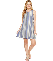 Dylan by True Grit - Nautical Indigo Stripes Fringe A-Line Dress