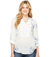 Dylan by True Grit - Flower Child Pintuck Blouse w/ Roll Sleeves