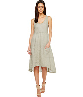 Dylan by True Grit - Luxe Linen Tank Dress w/ Pockets and Rib Knit