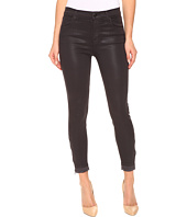 J Brand - Alana High-Rise Crop Skinny w/ Raw Hem and Zip in Coated Dust