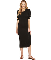Culture Phit - Quinn Luxe French Terry Midi Dress with Sleeve Cut Outs