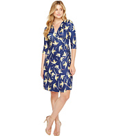 Christin Michaels - Khana 3/4 Sleeve Wrap Dress