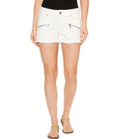 Paige - Indio Zip Shorts in Optic White