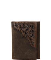 Ariat - Scroll Cross Corner Trifold Wallet
