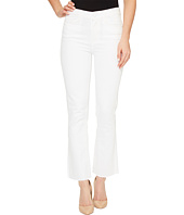 Paige - Colette Crop Flare with Raw Hem in Optic White
