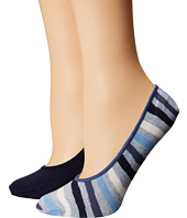 Cole Haan - 2-Pair Wave Stripe No Show