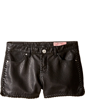 Blank NYC Kids - Vegan Leather Detailed Shorts in Lace-Up (Big Kids)