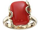 Sea Leaf Yellow Gold Cushion Cut Ring