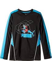 Puma Kids - Long Sleeve Poly Tee Geometric (Big Kids)