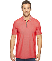 Calvin Klein - Two-Tone Pique Polo with Logo Zipper
