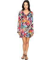 Nicole Miller - La Plage by Nicole Miller Tropical Palms Dress Cover-Up