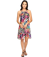 Nicole Miller - La Plage by Nicole Miller Tropical Palms Halter Dress Cover-Up