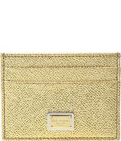 Dolce & Gabbana - Metallic Leather Cardholder