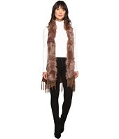 Christin Michaels - Syden Vest with Faux Fur Collar
