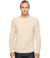 Original Penguin - Long Sleeve Wool Alpaca Fisherman Sweater