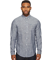 Original Penguin - Long Sleeve Nep Linen Non-Solid Solid Woven Shirt