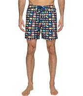 Original Penguin - Nautical Flag Printed Swim Shorts