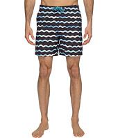 Original Penguin - Watercolor Wave Print Swim Shorts