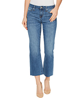Liverpool - Hannah Cropped Raw Hem Flare on Vintage Super Comfort Stretch Denim in Claremont Light
