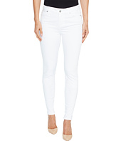 Liverpool - Abby Skinny in Vintage Slub Stretch Twill in Bright White