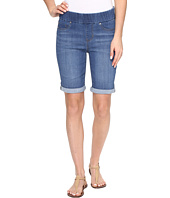 Liverpool - Sienna Pull-On Rolled-Cuff Bermuda in Silky Soft Denim in Coronado Mid