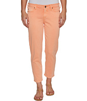 Liverpool - Riley Relaxed Crop in Stretch Peached Twill in Peach Pink
