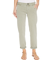 Liverpool - Billy Trousers Rolled-Cuff in Stretch Peached Twill in Shadow Green