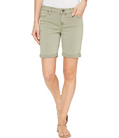 Liverpool - Corine Walking Shorts Rolled-Cuff in Stretch Peached Twill in Shadow Green