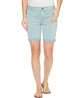 Liverpool - Corine Walking Shorts Rolled-Cuff in Stretch Peached Twill in Slate Blue