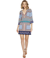 Laundry by Shelli Segal - Printed Dress w/ Tied Waist