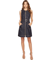 Laundry by Shelli Segal - Zip Front Denim A-Line Dress