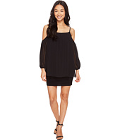 Laundry by Shelli Segal - Cold Shoulder Spaghetti Popover Cocktail Dress
