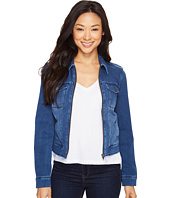 Liverpool - Denim Zip Jacket in Powerflex Knit Denim