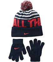 Nike Kids - Attitude Knit Beanie & Gloves Set (Big Kids)