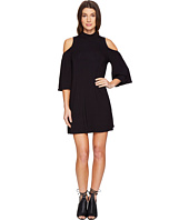 Culture Phit - Jamee Mock Neck Open Shoulder Shift Dress