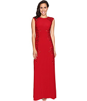 Adrianna Papell - Cap Sleeve Jersey Beaded Gown