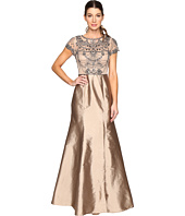 Adrianna Papell - Cap Sleeve Necklace Beaded Gown
