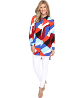 Vince Camuto - Long Sleeve Marina Blocks Button Down Tunic