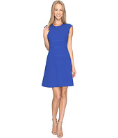 Vince Camuto - Cap Sleeve Fit and Flare Seamed Dress