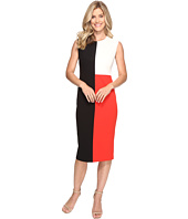 Vince Camuto - Extend Shoulder Color Blocked Midi Dress