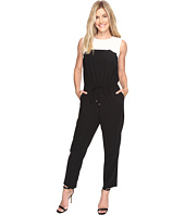 Vince Camuto - Sleeveless Color Blocked Drawstring Jumpsuit
