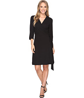 Vince Camuto - 3/4 Sleeve Belted Wrap Dress