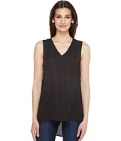 Vince Camuto - Sleeveless High-Low Hem Blouse with Back Lace Trim