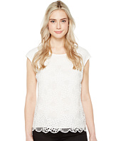 Vince Camuto - Extend Shoulder Organic Lace Blouse
