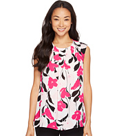 Vince Camuto - Sleeveless Front Pleat Flower Wave Blouse