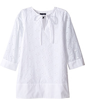 Oscar de la Renta Childrenswear - Cotton Eyelet Caftan (Toddler/Little Kids/Big Kids)