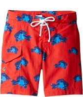 Oscar de la Renta Childrenswear - Fish Surfer Boardshorts (Toddler/Little Kids/Big Kids)