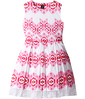 Oscar de la Renta Childrenswear - Ikat Cotton Party Dress (Toddler/Little Kids/Big Kids)