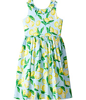 Oscar de la Renta Childrenswear - Painted Lemons Cotton V-Back Dress (Toddler/Little Kids/Big Kids)