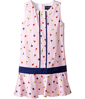 Oscar de la Renta Childrenswear - Mini Daisy Toss Cotton Drop Waist Dress (Toddler/Little Kids/Big Kids)